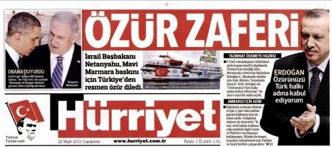 Hürriyet: 'Apology victory'