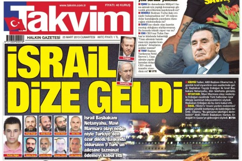 Takvim: 'Israel came to heel'