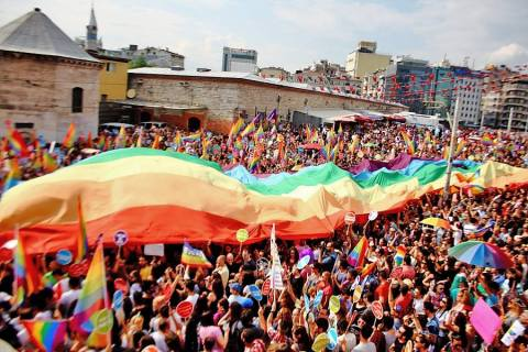 Istanbul's 2013 Pride March, in happier times. Source: Wikipedia Commons.
